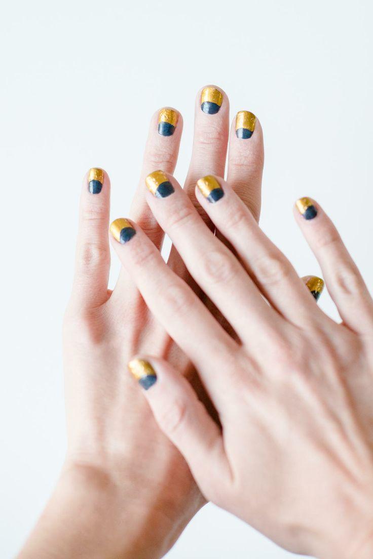 74 best Half Moon Nail Art images on Pinterest | Moon nails, Nail ...