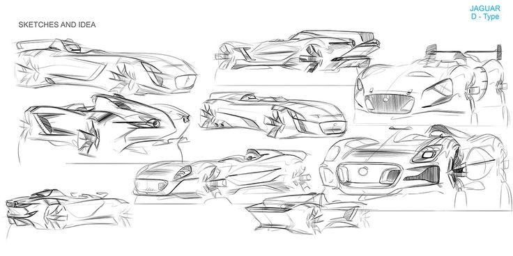 Jaguar D-Type on Behance