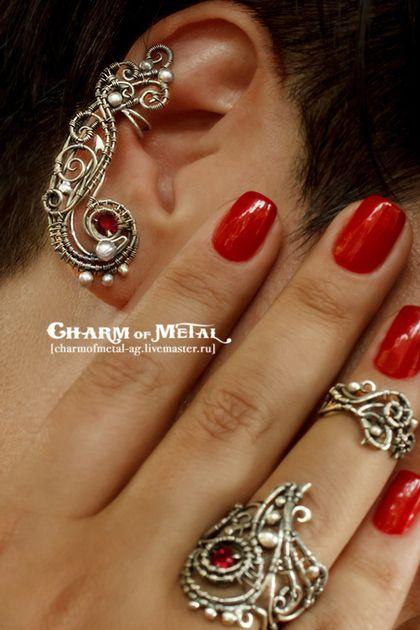 """Кольца ручной работы. Заказать """"Minnonar"""" Комплект из двух серебряных колец. Charm of Metal. Ярмарка Мастеров. Подарок женщине"""
