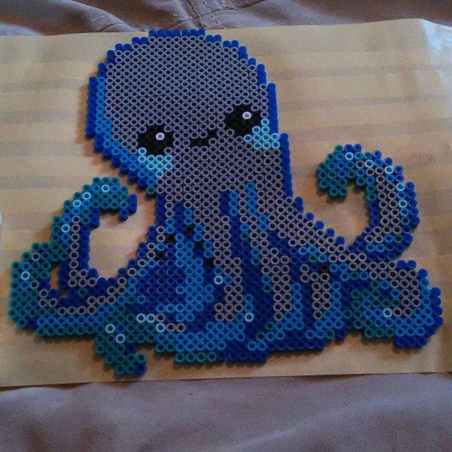 Octopus perler beads by elizabethann_42513