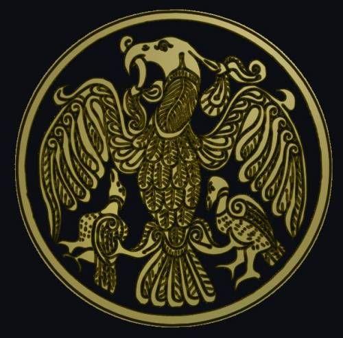 Turul bird from hungarian mythology