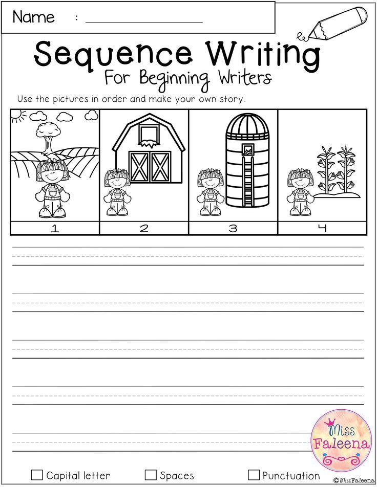 Free Sequence Writing Contains 10 Free Pages Of Narrative Prompts Worksheets This Product Is Suita Sequencing Worksheets Sequence Writing Kindergarten Writing Sequencing worksheets for 1st grade