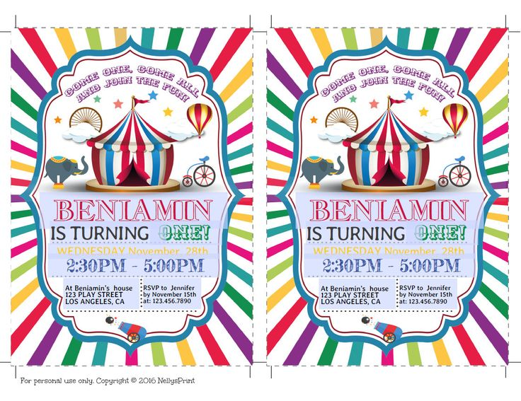 Best 25+ Circus Invitations Ideas On Pinterest | Circus Party