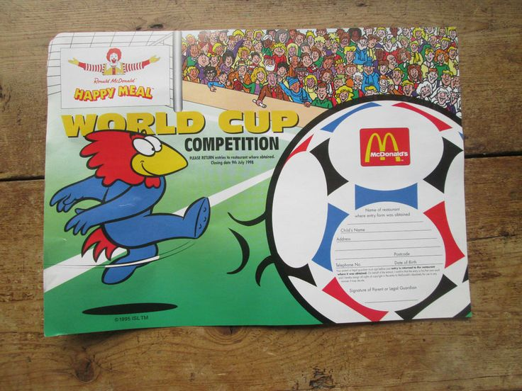 RONALD MCDONALD HAPPY MEAL WORLD CUP 1998 PROMOTION NEW OLD STOCK  | eBay