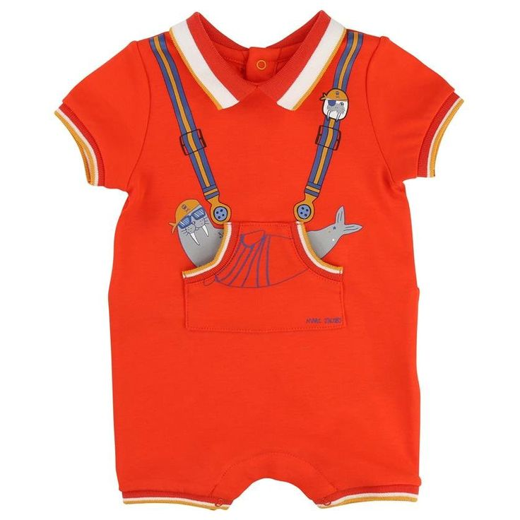 Little Marc Jacobs Baby Walrus Polo Romper | New Collection