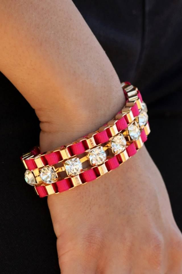Shop on: http://www.lolascloset.in/accessories/glam-girl-maroon-woven-bracelet/p-7367768-17366672382-cat.html#variant_id=7367768-17366672382