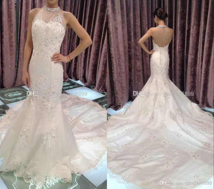 Wholesale mermaid wedding dresses buy real image hollow for Www dhgate com wedding dresses