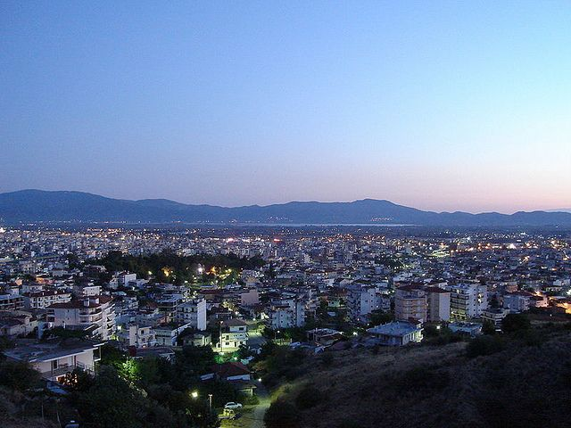 Town of Agrinio at night, West Greece, Greece -SkyscraperCity