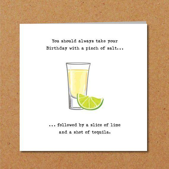 Tequila Geburtstagskarte 18 21 30 40 50 Freund Freundschaften Lustige Humorvolle Unte Funny Birthday Cards 18th Birthday Cards Birthday Cards For Brother