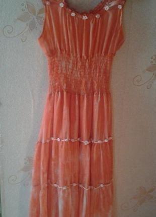 Платье женское шифоновое макси 50 размер. женское летнее розовое возд+ за+249+грн.