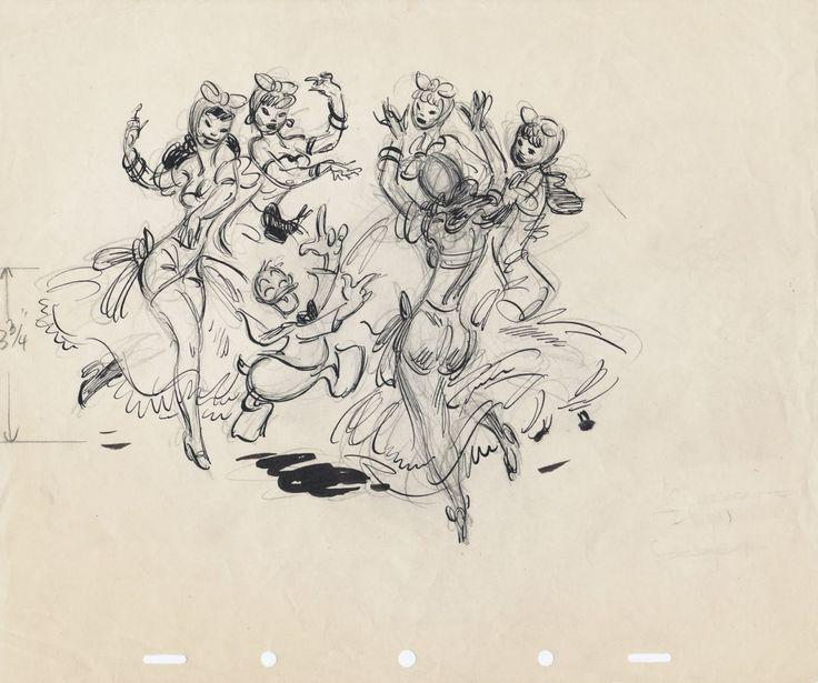 Freddie Moore's concept art for Walt Disney's The... - The Disney Elite