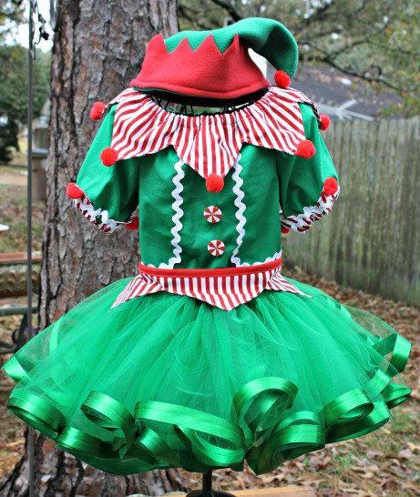 Girls Christmas Elf Santas Helper Set Pageant OOC Casual Holiday Theme Wear