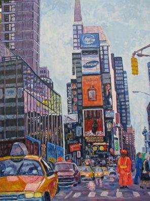Times Square. Love this piece!Favorite Artists, Time Squares, Friends Art, Times Square, Squares 2005, Business Time