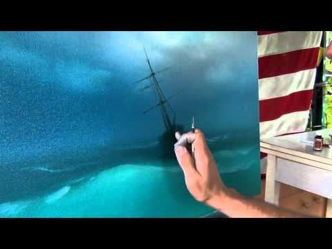 ▶ Best lesson. How to paint storm on the sea. How to paint sea waves - YouTube