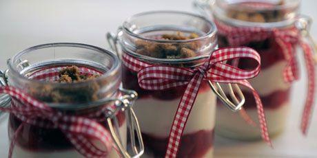 Upside-Down Cherry Cheesecake Jars