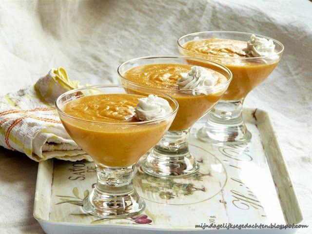 mijn dagelijkse gedachten: Healthy Pumpkin Coconut Pudding/ Полезный Тыквенно-Кокосовый Пудинг