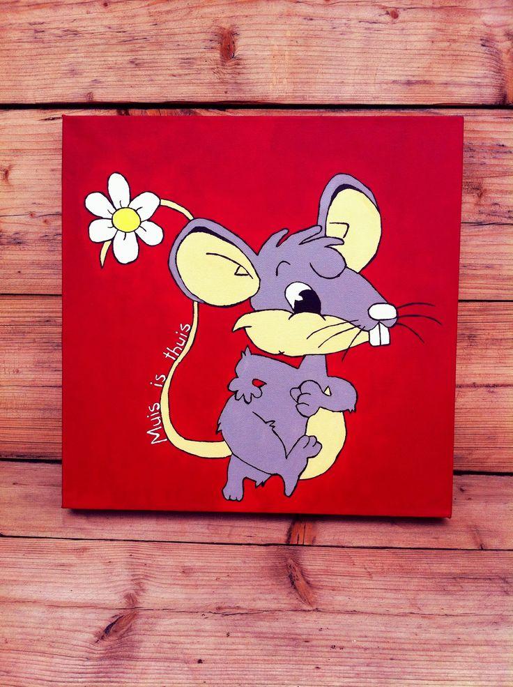 TE KOOP! 55 euro. 40x40 cm Logo-ontwerp Mindfulness voor kinderen (op bestelling). Handgeschilderd schilderij. Ook te bestellen naar eigen ontwerp en kleurcombinaties.