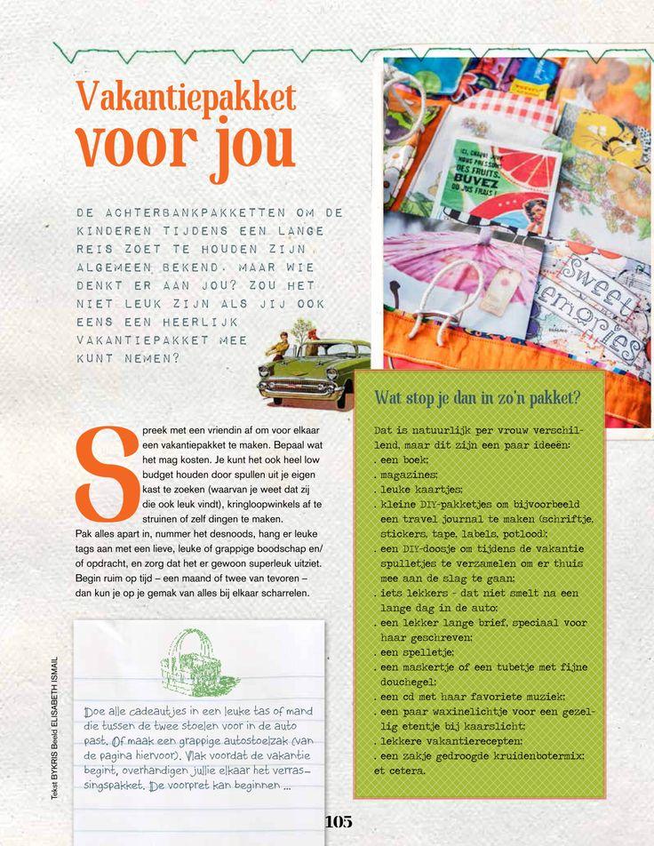 Vakantiepakket voor jou. Doe je mee? Kijk op www.sestra.nl/creatief.