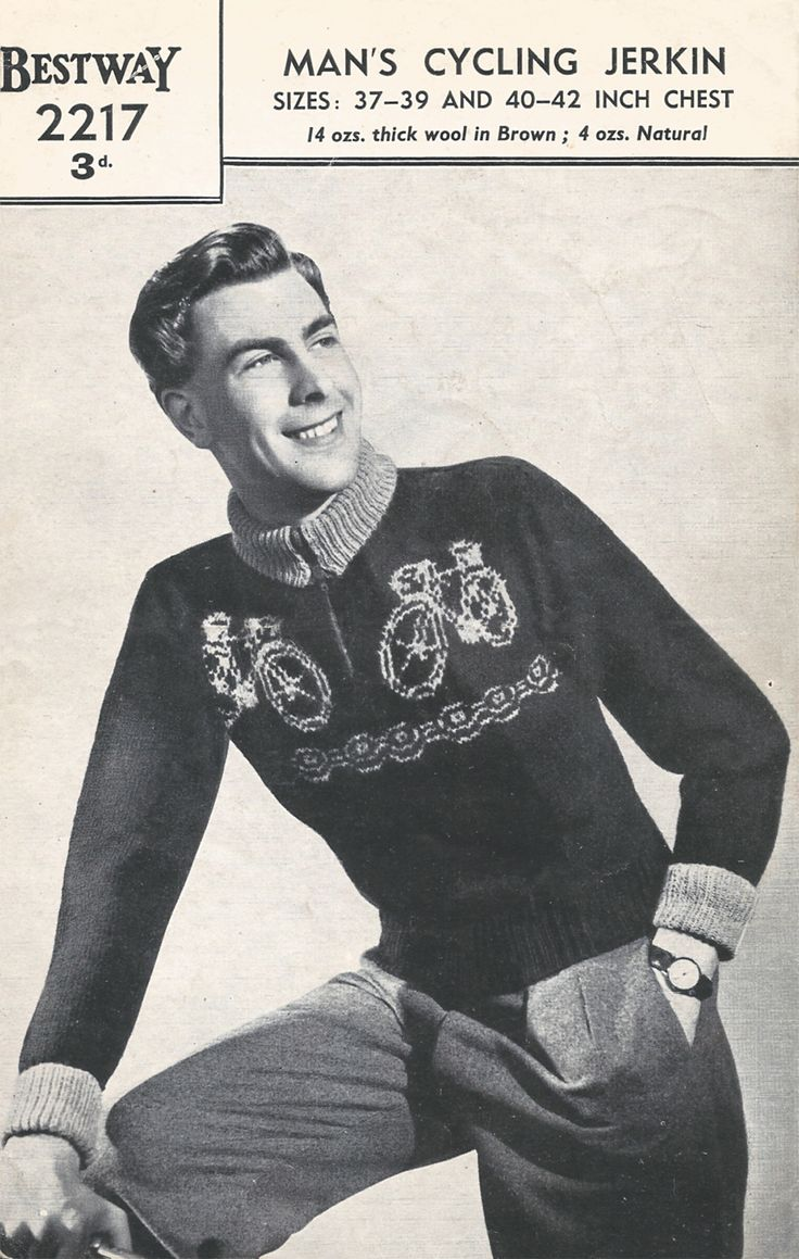 Free 1940s knitting pattern for a Man's Cycling Jerkin - Renée And The Cat's Meow