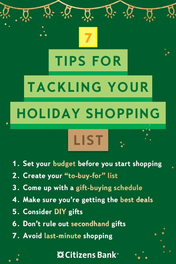 7 Holiday Shopping Tips To Help You Tackle Your List Holiday Shopping Lists Christmas Fun Christmas Traditions Family