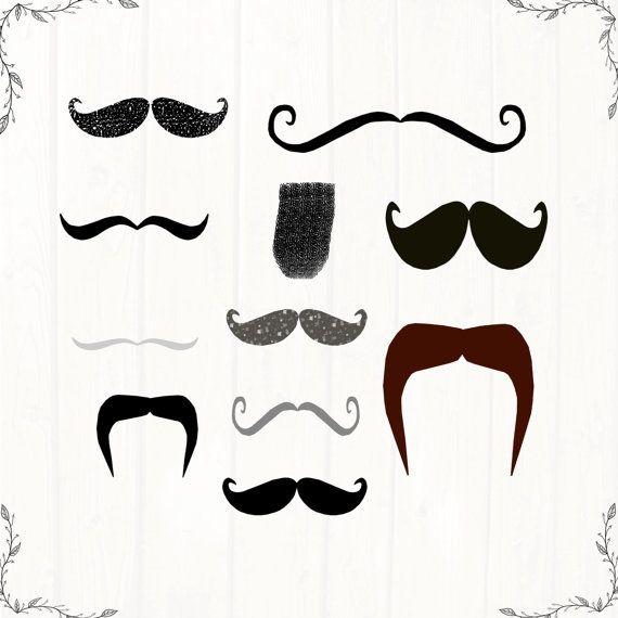 Moustache Clipart Retro Hipster Moustache by CinnamonCoffeeStudio