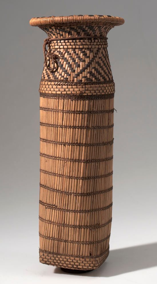 Zambia Basket Weaving : Africa basketry sifter from southwest runtu camp