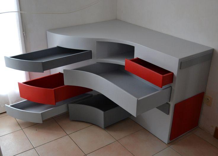 Tiroirs meuble télé en carton SG Mobilier Carton - Angers