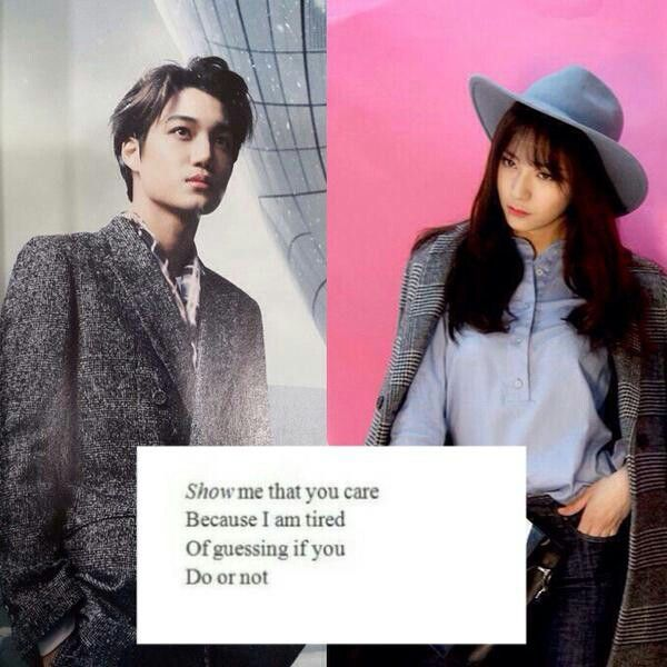 Kai and Krystal kaistal #jongin #soojung #exo #f(x) cr: megan