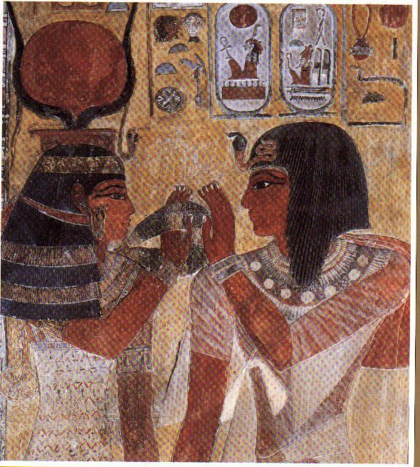 early egyptian civilization - Google Search. Person on the right has the Uraeus head piece.