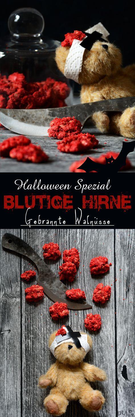 Halloween Spezial: Blutiges Hirn - Gebrannte Walnüsse / Bloody brain - roasted walnuts