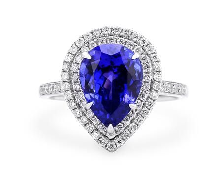 Белое золото - ч . кольцо с бриллиантом в окружении проложить установка каменные кольца для женщин свадьба обручальное кольцо