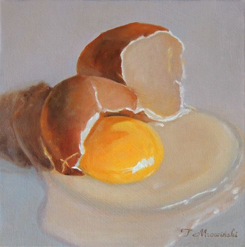 jajko obraz olejny Tomasz Mrowiński