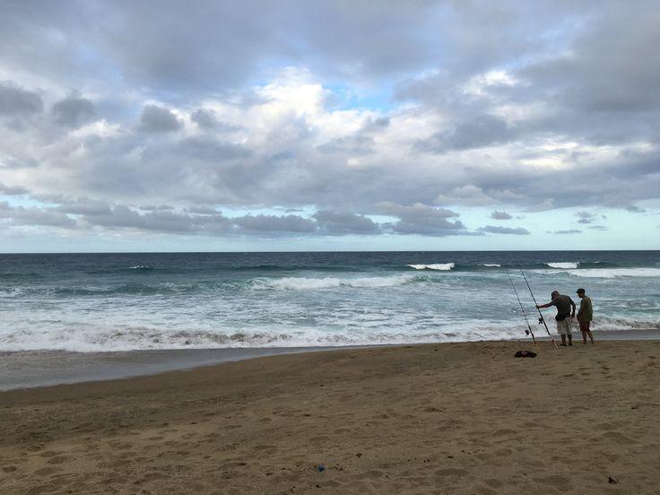 Fishing at playa Guajataca