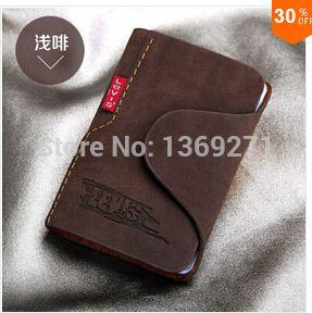 Мужчины из натуральной кожи кредитные карты держатель известный дизайнерский бренд деловая сумка чехол мешок карточки / бумажник