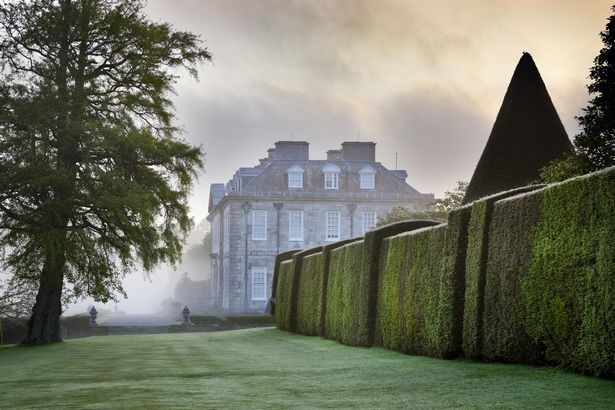 Antony House in Cornwall, which served as the setting for parts of Tim Burton's Alice in Wonderland