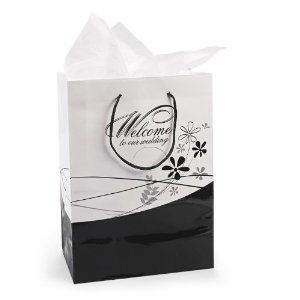 Wedding gift:Medium Welcome To Our Wedding Gift Bags (1 dz)