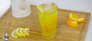 Ceai rece de casa cu portocala si lamaie
