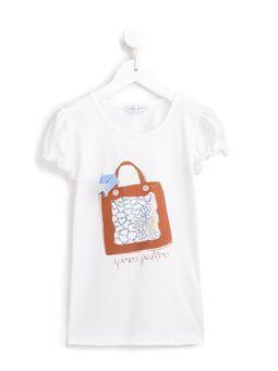hand bag print T-shirt