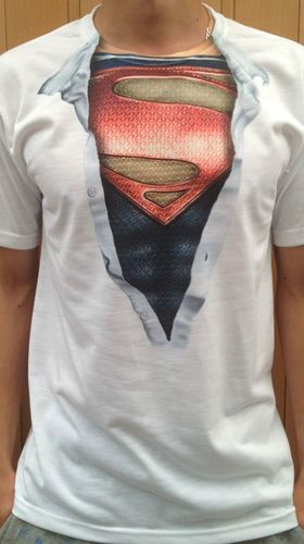 Man of steel superman chest t shirt funny comic super for Man of steel t shirt online