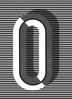 """O #typography print in """"Copenhagen"""" style, more letters + styles available // Pawaiian Hunch, @Ruth Vissing"""