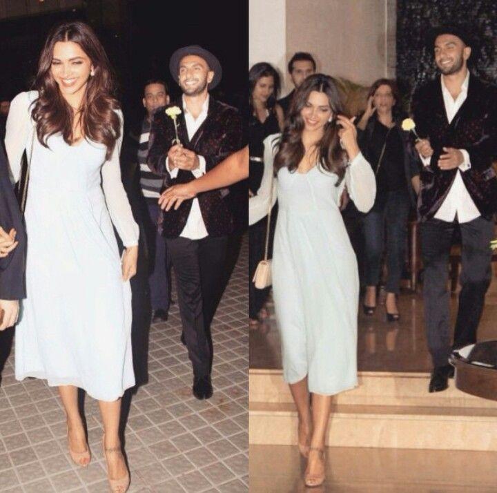 Soo cute! Deepika Padukone and Ranveer Singh :D