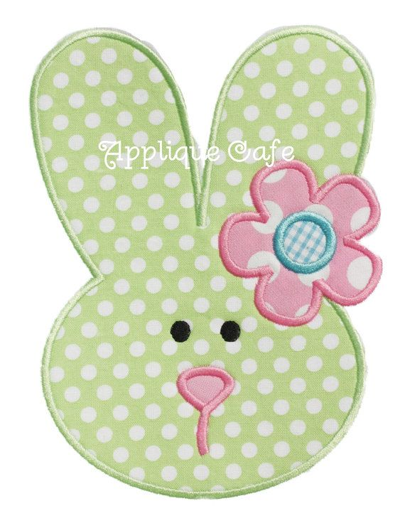 729 Bunny 6 Machine Embroidery Applique Design