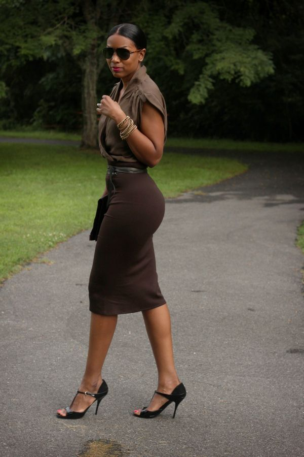 Best 25  Brown pencil skirts ideas on Pinterest | Burgundy ...