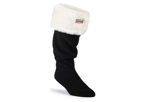 Hunter Ponožky - Soft Furry Cuff Welly Socks - s25315-plw