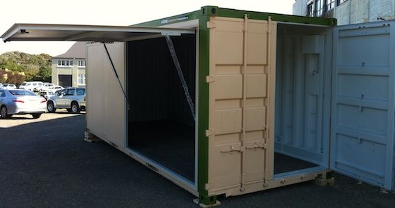 container door - could work well for ewaste etc container