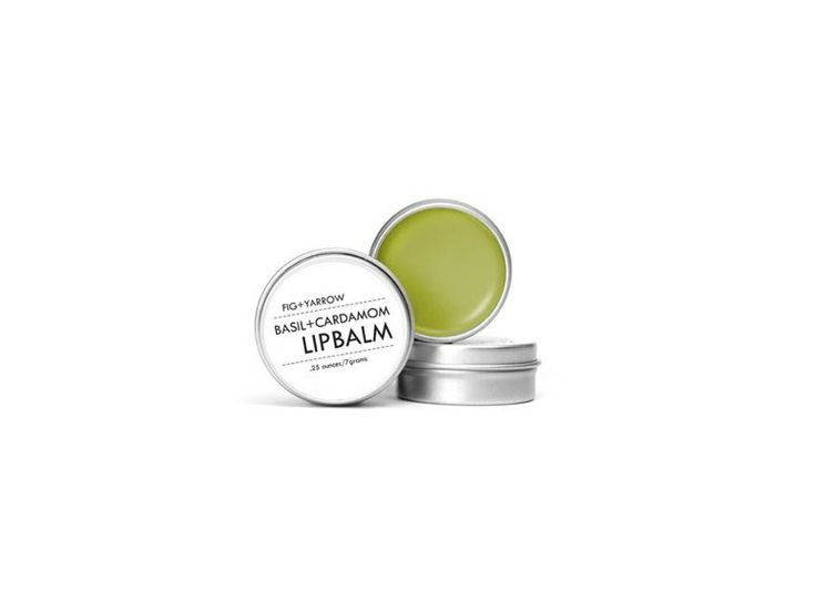 """""""This Basil + Cardamom Lip Balm ($10) from Fig and Yarrow is a goodie."""" —@erin boyle"""