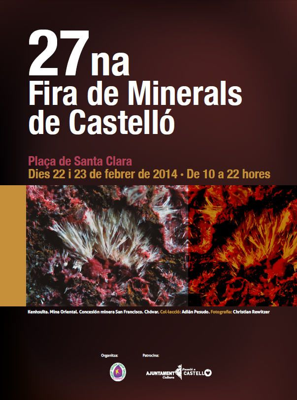 37 expositores nacionales e internacionales en la XXVII Fira de #Minerals de #Castelló http://ow.ly/tOZCg
