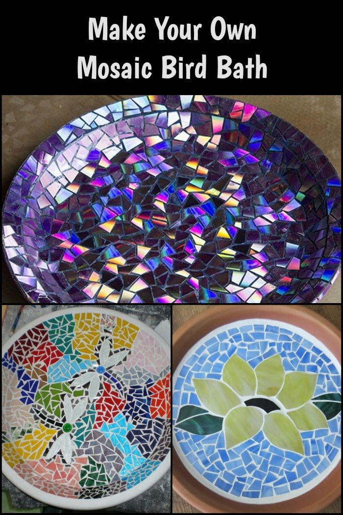 These DIY mosaic bird baths are perfect additions to your garden!