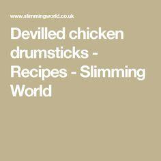 Devilled chicken drumsticks - Recipes - Slimming World