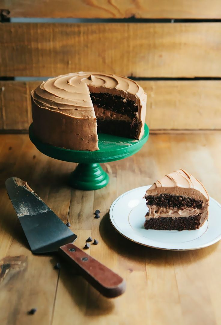 One Bowl Chocolate Cake with Mocha Buttercream Frosting - hummingbird ...